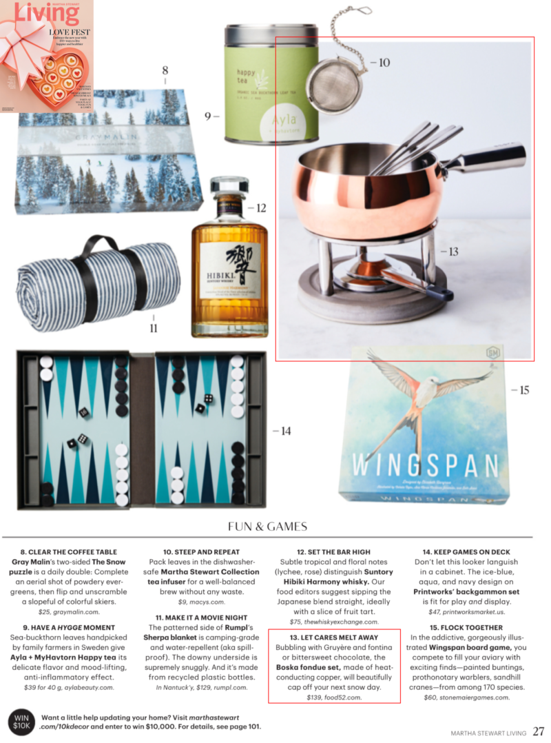 Boska Fondue Set in Martha Stewart Living