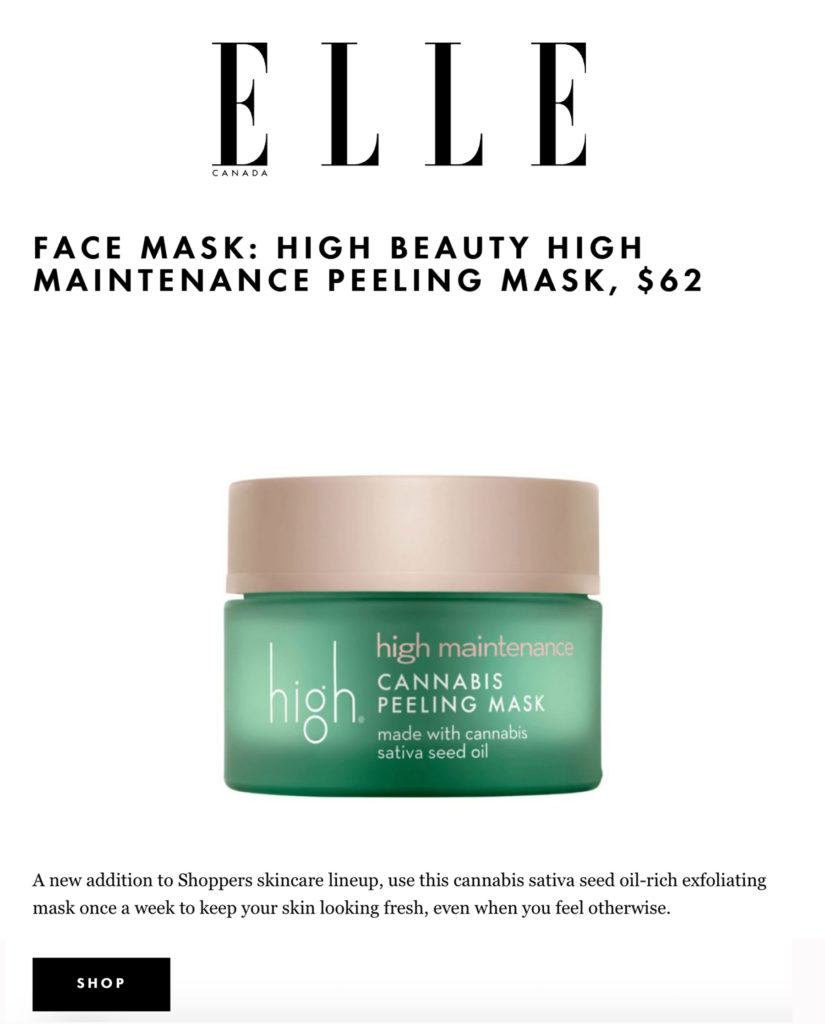 high maintenance Cannabis Peeling Mask